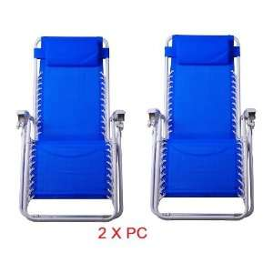 com Two New Foldable Zero Gravity Chair Recliner Lounge Patio Chairs