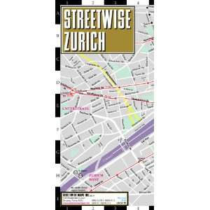 Streetwise Zurich Map   Laminated City Center Street Map