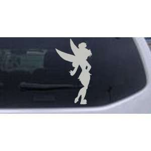 Sillohette Tinkerbell Cartoons Car Window Wall Laptop Decal Sticker