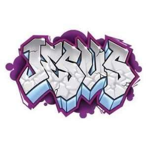 Ben Frank   Jesus Graffiti   Sticker / Decal: Automotive