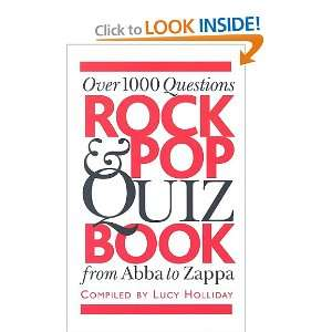 Rock & Pop Quiz Book (9780825635076) Lucy Holliday Books