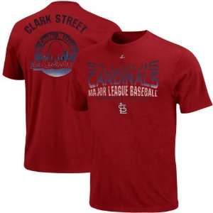 Majestic St. Louis Cardinals Four Game Sweep Premium T Shirt   Red