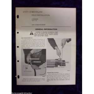 New Holland TR 70 Combine OEM OEM Owners Manual: New