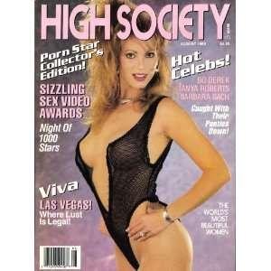 High Society Magazine August 1988: High Society: Books