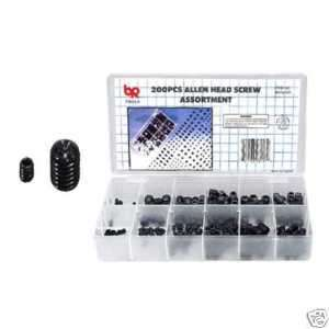 200 PC SOCKET BOLT ALLEN HEX HEAD SCREW ASSORTMENT KIT