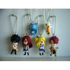 NEW Fairy Tail Strap x 6 Natsu Gray Lucy Erza Japan Anime Manga Hiro
