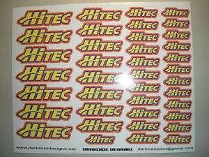 Custom vinyl printed Hitec decals
