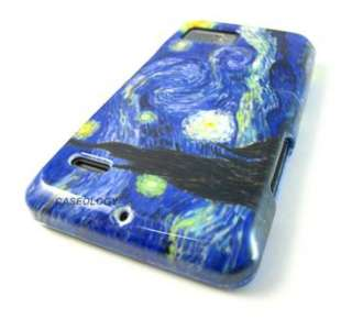 STARRY NIGHT HARD SNAP ON CASE COVER MOTOROLA DROID BIONIC PHONE