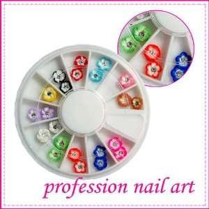 12 Colors 3D Glitter Flower Nail Art Decoration 211