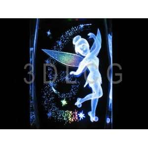 Disney Tinkerbell with Pixie Dust 3D Laser Etched Crystal