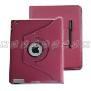 The New iPad 3 3rd Gen PU Leather Smart Cover Rotating Case Stand