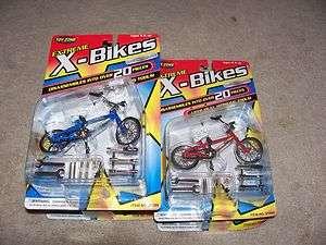 Pro BMX diecast metal FINGER BIKE extreme x bike toy zone tools blue