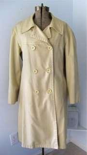 Vtg London Fog Khaki Trench Rain Coat Zip Lining Wms 20