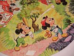 1950s Disney MICKEY MOUSE Round Jigsaw Puzzle Complete W/Box