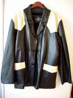 OSCAR PIEL Perfect Leather with Zip Out Lining Black & Cream XL