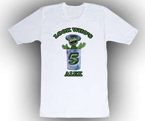 Custom Sesame Street Oscar the Grouch Birthday T Shirt