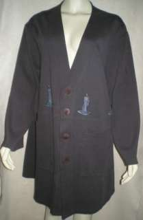 BLUE FISH CLOTHING Dark Gray Painted SWING JACKET TOP 2XL ~~ Cotton