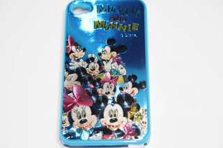 Disney 3D Shiny Mickey Minnie Mouse BLUE iPhone 4 Hard Case & Screen