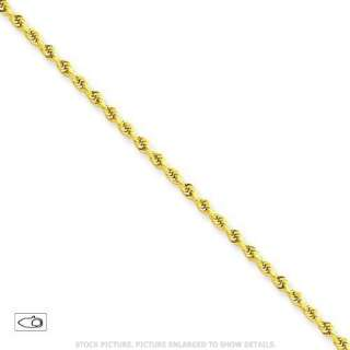 NEW 14K SOLID YELLOW GOLD 2.0MM DIAMOND CUT ROPE CHAIN NECKLACE