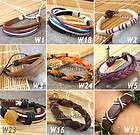 SALE MIXED BULK 15 SURF LEATHER WRISTBAND BRACELETS ANKLETS SAVE IN