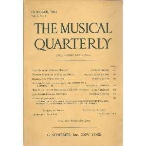 Geiringer, Geoffrey Nutting Anthony Milner, Paul Henry Lang: Books
