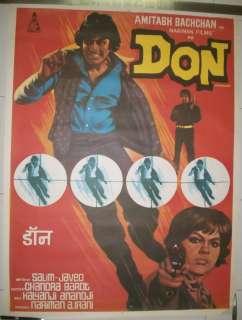India Bollywood 1978 DON 30 x 40 poster Amitabh Bachchan Zeenat Aman