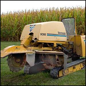 2002 Vermeer SC505 Stump Grinder 50 HorsePower Diesel w/Retractable