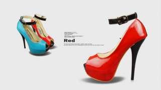 Womens Shoes Ankle Strap High Heels Stilettos Platforms Open Peep Toe