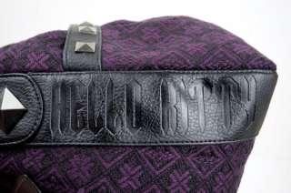LOUNGEFLY Purple Tweed ANGRY HELLO KITTY Handbag, BAG