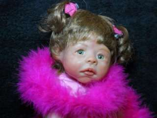 Sculpted MINI Polymer Clay Baby Girl Toddler Art Doll Yvette 16 in
