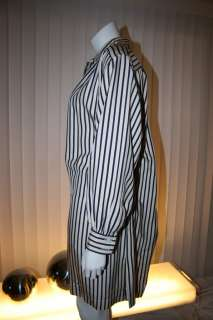YSL YVES SAINT LAURENT Vtg Women Oversized Balloon Pajama DRESS Sz M L
