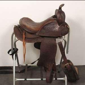 Big Horn Western Horse Saddle 16 Seat Tooled Leather