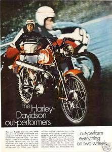 1969 HARLEY DAVIDSON MOTORCYCLE 125 RAPIDO ENDURO ad