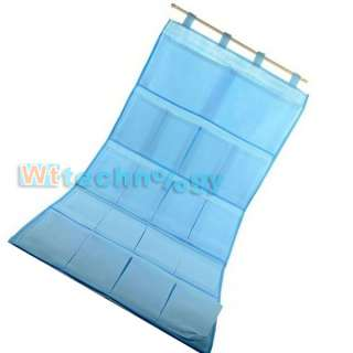 Hot 22 Different Size Pockets Blue Canvas Wall Hanging Storage Bag