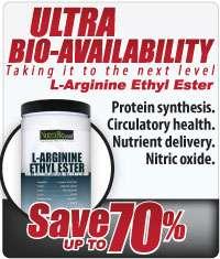 NutraBio Arginine Ethyl Ester Powder   150 Grams 649908245009