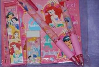 6pc Disney Princess PINK Pencil Stationary Party Favor