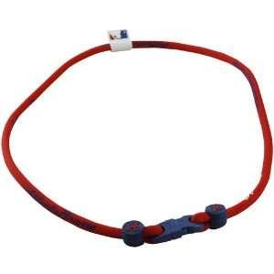 Atlanta Braves Red Royal Blue Nylon X30 Titanium Necklace Jewelry