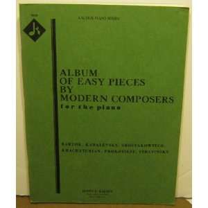 Album of Easy Pieces By Modern Composers for the Piano Bartok
