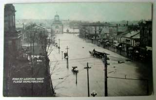 HAMILTON OHIO 1913 FLOOD POSTCARD HIGH ST LOOKING WEST