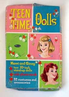 Vintage Whitman 4401 TEEN TIME paper dolls 1960 box set