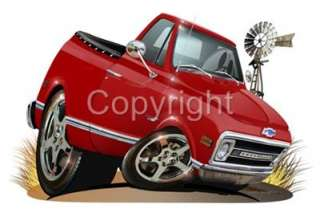 1970 Chevy C 10 Pickup Truck Licensed T Shirt #6777 C10