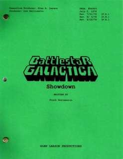 BATTLESTAR GALACTICA set of three unfilmed scripts Lorne Greene