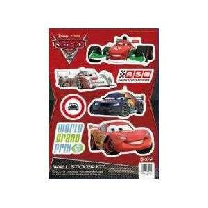 Disney Pixar Cars 2 Wall Stickers Kit   World Grand Prix Toys & Games