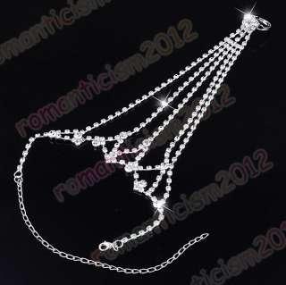 Free cuff&ring set crystal rhinestone wedding/bridal
