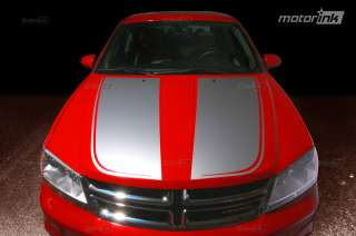 AVENGER Hood Decal Graphics Center Stripes 3M 2008 2012 08 12 motorINK