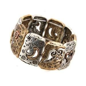 Fashion Jewelry Desinger Inspired Metal Silver and Gold Oxidized with