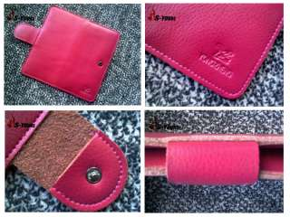 New 100% Genuine Leather Clutch Purse Handmade Bags Name Card Wallet