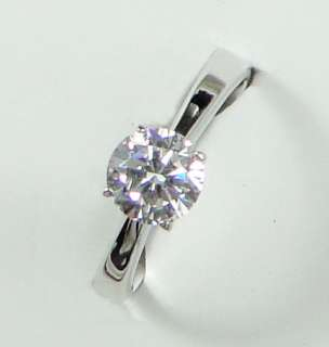 18K Platinum Plated 1.25ct Cubic Zirconia XMAS GIFT Diamond Cut Ring