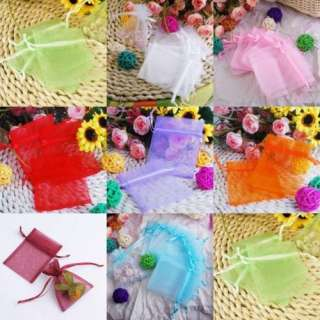 Pure Organza wedding Jewelry favor gift bag pouch 7X9cm