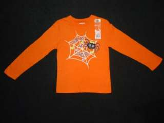 OshKosh Bgosh Girls Halloween Spider Web Shirt Top Size 4 5